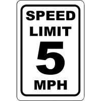 "Metal Sign Speed Limit 10 8"" x 12"" Aluminum NS 150"