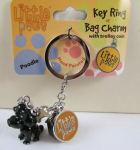 Fabulous Little Paws Key Ring / Bag Charms - This is the POODLE - Black