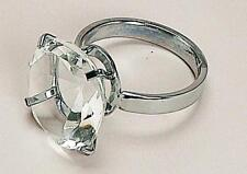 edel Serviettenring Metall Glas Kristall 4cm X 6cm