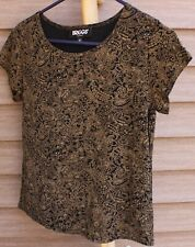 Woman's Brown & Black Shirt by Briggs; Size:  SP
