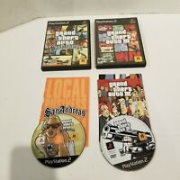 Lot of 2 GTA Games - Grand Theft Auto III & San Andreas with Manuals PS2 CIB