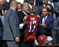 President TRUMP & Nick Saban Alabama Crimson Tide 8 x 10 Photo Picture TEAM