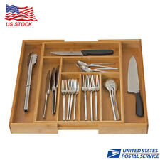 Expandable Utensil Flatware Dividers-Kitchen Drawer Organizer-Cutlery Holder