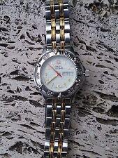 Woman's Swiss Military Watch Silver + Gold Calendar