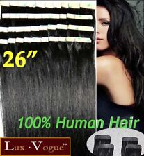 "26"" 40pcs 100% Human Hair 3M Tape-in Extensions Remy #1 (jet black)"