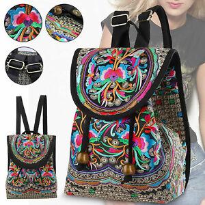 Backpack Women Purse Shoulder Rucksack Small Travel Bag Handbag Vintage Handmade