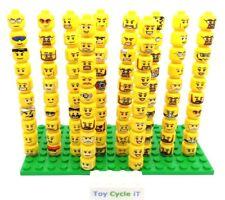 Lego 15 X aleatorio Cabeza Para Minifiguras hombres partes temas mixtos Buen Estado