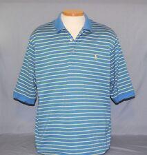 Ralph Lauren Polo Golf Men's Shirt Size XL Blue & Yellow Striped Pima Cotton