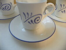 SET OF 4 CORELLE OCEAN VIEW  CUPS AND SAUCERS  RARE