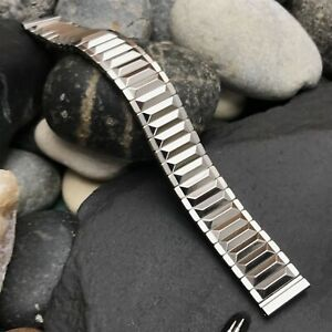 """1950s Rose-Brand 5/8"""" Stainless Steel Expansion nos Vintage Watch Band"""