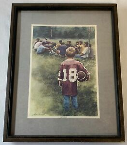 hand signed autographed 12x15 football print ~ ARCH UNRUH ~ #18 Influence ~ FCA