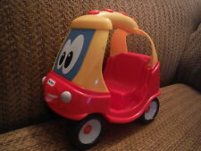"""LITTLE TIKES 7"""" Length Red Yellow Coupe Car with Big Eyes"""