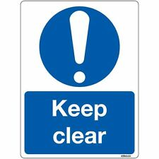 Keep Clear Sign Self-adhesive Sticker 150 x 200mm