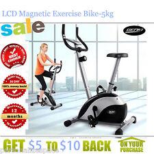 8-Level LCD Magnetic Exercise Bike-5kg Flywheel Heavy Duty Adjustable Seat Heigh
