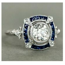Certified Vintage Art Deco White Round Diamond 14K White Gold Engagement Ring $