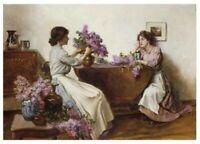 Victorian Trading Co A Walled Garden in Springtime Watercolor Helen Allingham