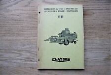 CLAYSON M89 SPARE PARTS LIST NR 7004 1967 - NEW HOLLAND COMBINE HARVESTER