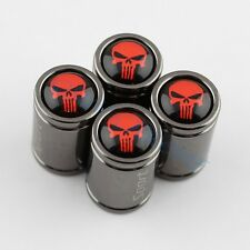 Titanium Style Car Wheels Tyre Valve Caps Cover Punisher Badge Auto Accessories