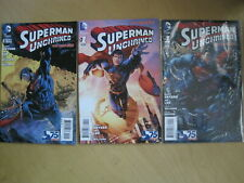 SUPERMAN UNCHAINED: # 1, 75yr VARIANT + Newsstand (both with POSTER) + # 2. 2013