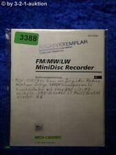 Sony Bedienungsanleitung MDX C800REC Mini Disc Recorder (#3388)