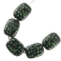 Trez Handmade Glass Lampwork Beads (Set of 10; Small Hole 1.5mm) Oblong 308