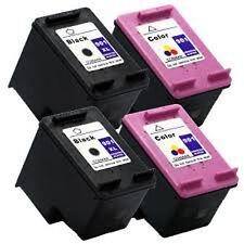 2 HP 901XL CC654A+2 HP 901 CC656A Reman Ink Cartridge 188% More Officejet J4580