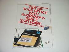 Brochure ~ Tidy up your office with Acornsoft Mirle Software ~ BBC Micro