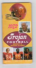 1972--USC TROJANS--NATL. CHAMPS--A. DAVIS, HADEN,SWANN--FOOTBALL MEDIA GUIDE-NMT