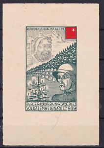 Schweiz. Soldatenmarken.1939. Infanterie Regiment 29, Block, postfrisch