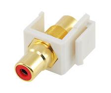 RCA keystone coupler - red