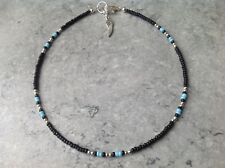 Tibetan Silver Angel Wing Native American Glass Seed & Sp Bead Anklet 13.5""
