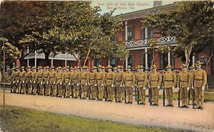H62/ San Antonio Texas Postcard c1910 Roll Call at Fort Sam Houston Soldiers 150