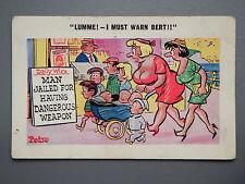 R&L Postcard: Comic Sunny Pedro 138 Family Children Pram, Newspaper Stand Stall