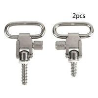 2X Stainless Steel Rifle Gun Sling Swivels with Studs Hunting Slings Mount HOT