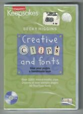 Creating Keepsakes Becky Higgins Creative Clips and Fonts Windows / Mac Cd Rom