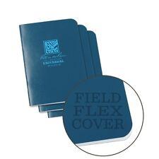 Rite in the Rain 271FX-M All-Weather Mini Stapled Notebook, Univ., Blue -3 pack