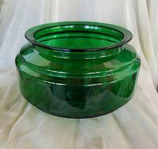 Rare~1930s Art Deco Emerald Green Glass Fish Bowl, Aquarium