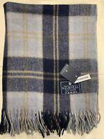 100% Wool Blanket | The House Of Balmoral Scotland | Silver Bannockbane | Tartan