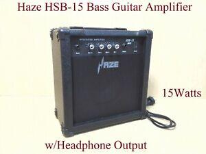 Haze HSB-15 15Watt Electric/Acoustic Bass Guitar Amplifier,BK w/Headphone Output