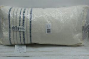 "RALPH LAUREN Home Julianne Stripe 14"" x 26"" Decorative Pillow Cotton White $135"