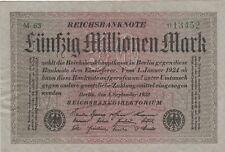 * Ro. 108b - 50 millones de marcos-Deutsches Reich - 1923-Fz: m *