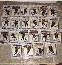 2015-16 POWELL RIVER KINGS BCHL TEAM SET 22 CARDS EXTREMELY RARE AUTOGRAPHED