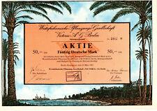 Germany. Westafrikanische Pflanzungs Gesellshaft 50 Deutsche MARK Bond Cert 1982