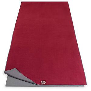 New Mat Towel Fast Drying Hot Yoga Pilates Banyan & Bo Dark Red Gray Absorbent