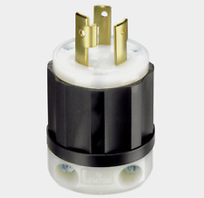 New!! LEVITON Industrial Nylon L6-30P GROUNDING PLUG 30 Amp 250 Volt 02621-0PB