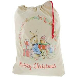 Beatrix Potter Peter Rabbit Christmas Sack, Large/Durable For Gifts, Cotton 68cm