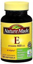Nature Made dl-Alpha Vitamin E 400 IU Softgels 180 Soft Gels (Pack of 2)