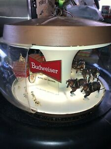 Vintage Budweiser Beer World Champion Clydesdale  Lamp Damaged Fixer