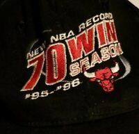 Vintage 1996 Chicago Bulls 70 WIN NBA Season  KC/Powerade Snapback Hat
