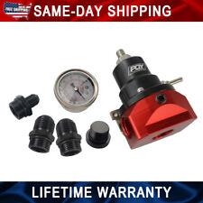 Aluminum Adjustable FPR AN10 Fuel Pressure Regulator with Gauge BLACK&RED